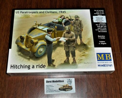 Hitching a ride US Paratroopers and Civilians 1945 5 Fig 1:35 MasterBox 35161