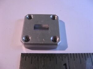 WR34-Cover-Flat-Tapped-Waveguide-Flange-3-16-034-Thick-Alum-Butt-RF-Microwave-NOS