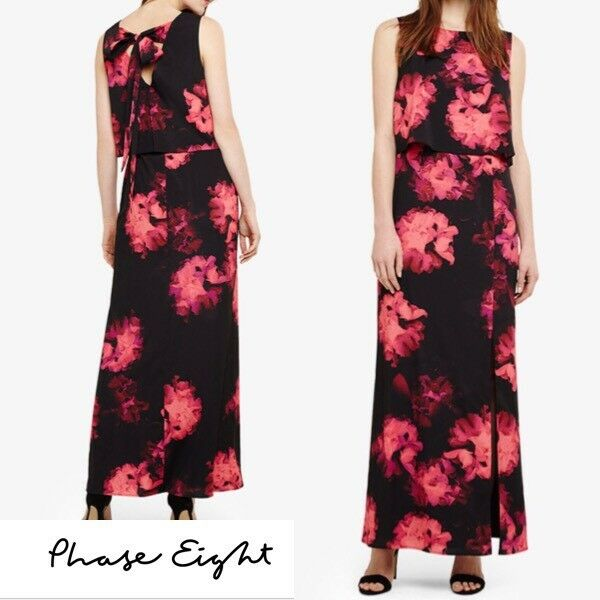 BNWT Phase Eight DRESS SIZE 16 Maxi  PARTY RACES OCCASION WEDDING EVENING. D104