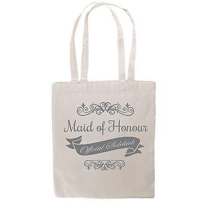 Tote Canvas Bag Wedding Bridal Bride Bridesmaid Hens Day Night Shower Gift