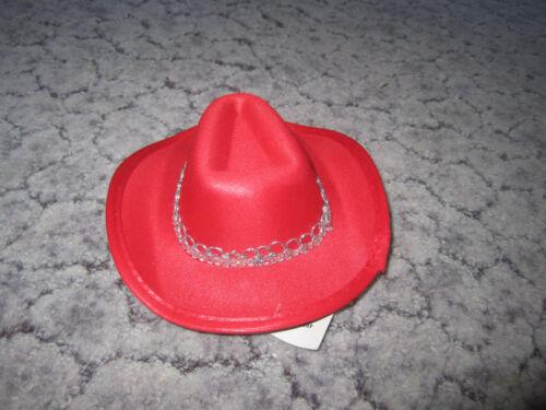 Hut Damen Cowboy Party Kopfschmuck LED Farbwahl *Fasching Karneval Kostüm Mini