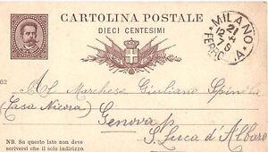 REGNO-UMBERTO-I-1879-CARTOLINA-CENT-10-MILLESIMO-82-DA-MILANO-1882