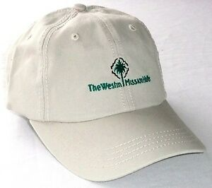 f908d31f127 THE WESTIN MISSION HILLS GOLF HAT Beige Cap Troon Cotton Adjustable ...