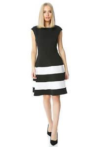Roman-Originals-Women-Colour-Block-Fit-And-Flare-Dress