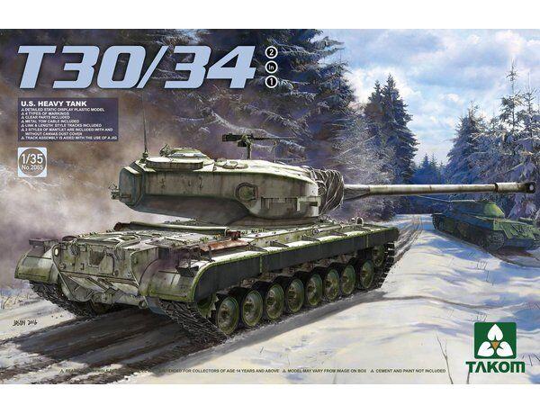 Takom 1 35 U.S. Heavy Tank T30 34 (2 in 1)