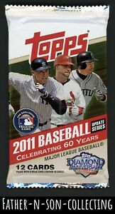 2011 Topps Update Baseball Retail Pack 12 Cards Factory Sealed $.01 Start! Trout