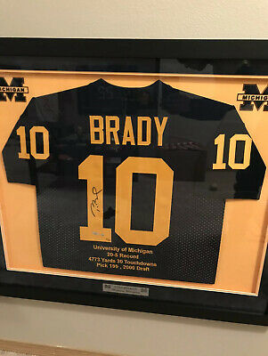 Tom Brady Signed Stat Jersey Michigan Collage Autographed Jersey LE 10 | eBay