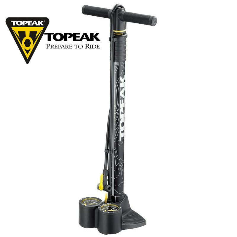 Topeak TJB-DUL Joe Blow Dualie Floor Pump Fat Bike Tire Dual Gauge 75psi