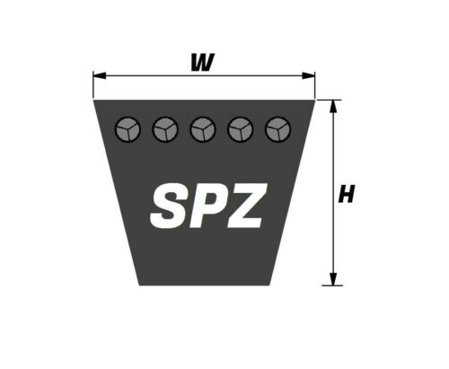 SPZ1137  10mmx8mm  Vee Belt Quality Branded SPZ  V Belt SPZ512