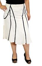 Solid Black White Knee Length Skirt Church Wedding Conservative Women Plus Size