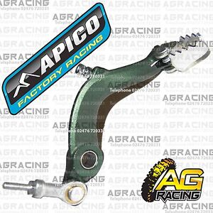 Apico-Green-Rear-Foot-Brake-Pedal-Lever-For-Ossa-TR-250-2015-15-Trials-New