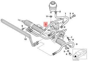 s l300 genuine bmw e46 e85 e86 cabrio expansion power steering hose oem