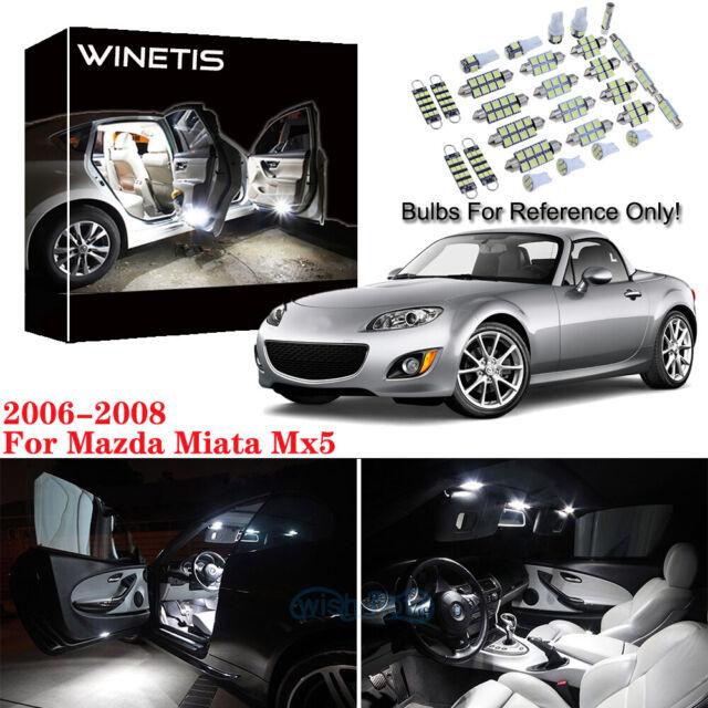 Fits 2006-2008 Mazda Miata Mx5 Reverse White Interior Car
