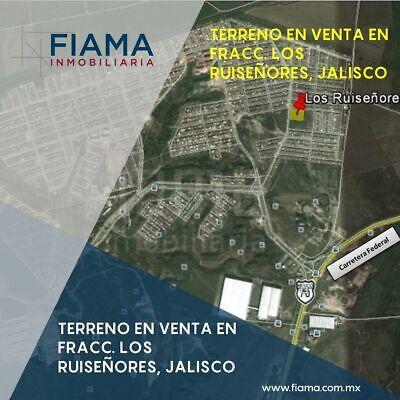 (Fa) Terreno Fracc. Los Ruiseñores, Jalisco (VERIFICAR DISPONIBILIDAD)