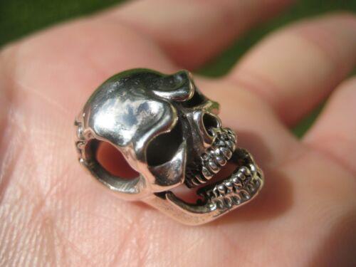 Argent 925 Crâne manquant dent collier pendentif A2842