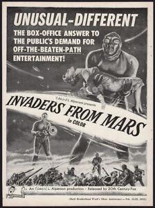 INVADERS FROM MARS__Original 1953 Trade AD / ADVERT__Helena Carter__Arthur Franz