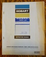 Hobart Transformer Welder Parts List Model T 180 Instruction Manual