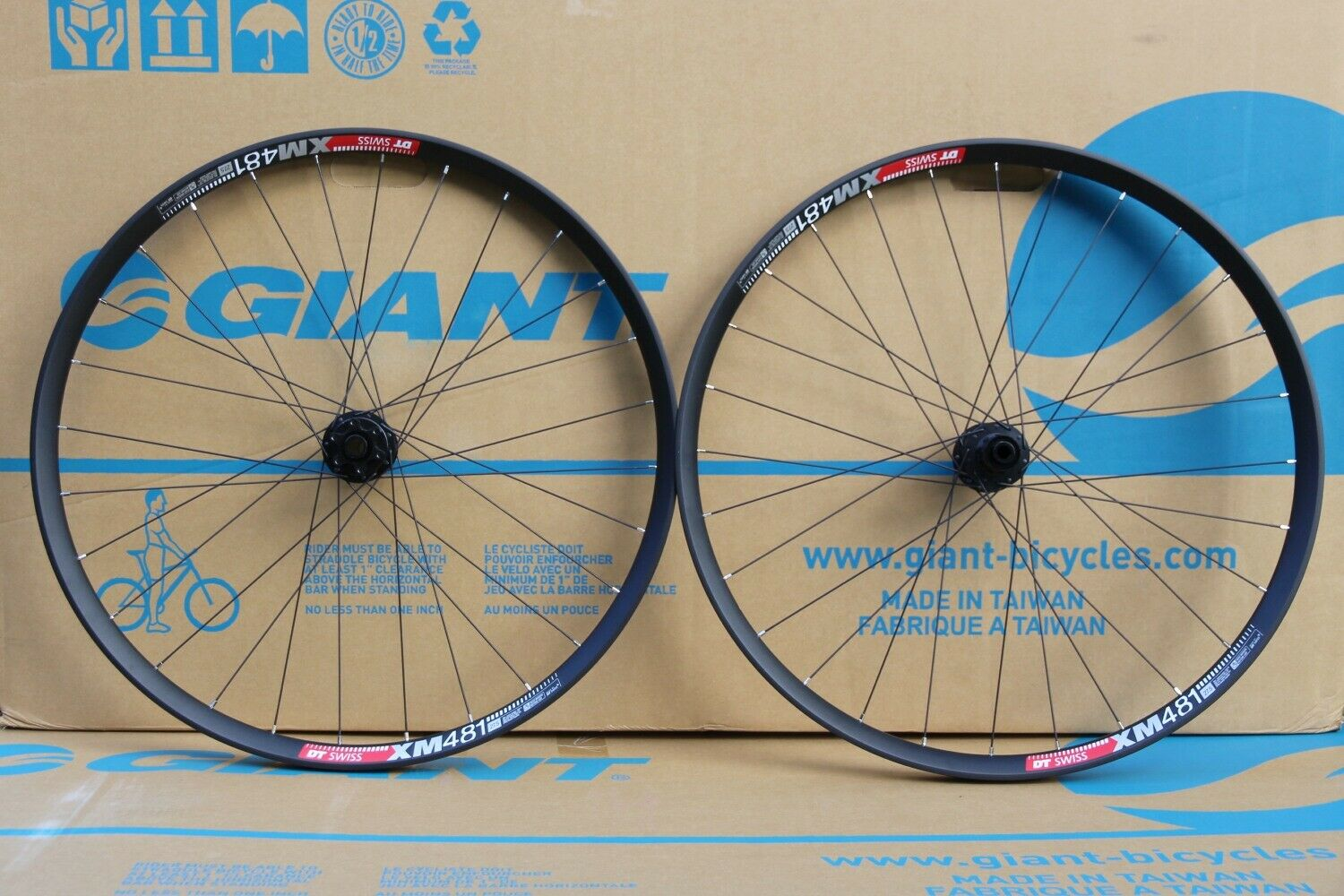 NEW - 2019 DT Swiss XM 481 Wheelset, 27.5   - Front   Rear Disc Tubeless  hot sale online