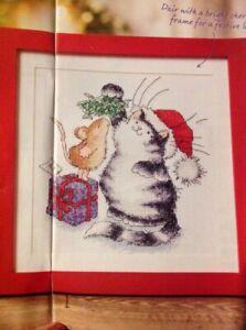 Margaret Sherry Cute Cat Presents Stocking Christmas Cross Stitch Chart X5