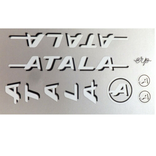 Atala decals Team set  for vintage restoration choices of blue red or white