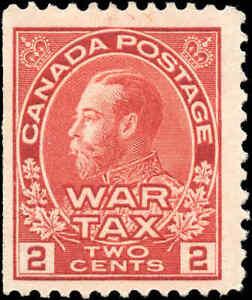 Mint-H-Canada-2c-1915-F-Scott-MR2-War-Tax-Stamp