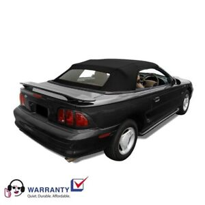 Ford Mustang Convertible Top And Heated Glass Window Black Sailcloth 1994 2004 Ebay