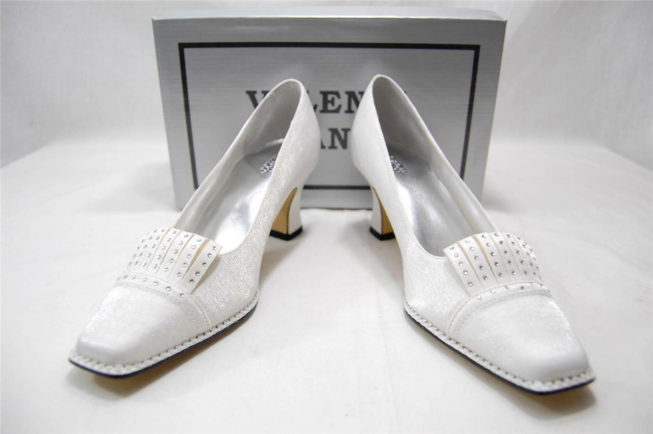 New Women's Valenti Franco High Heel Church Dress Casual Shoe White SN#Sandra