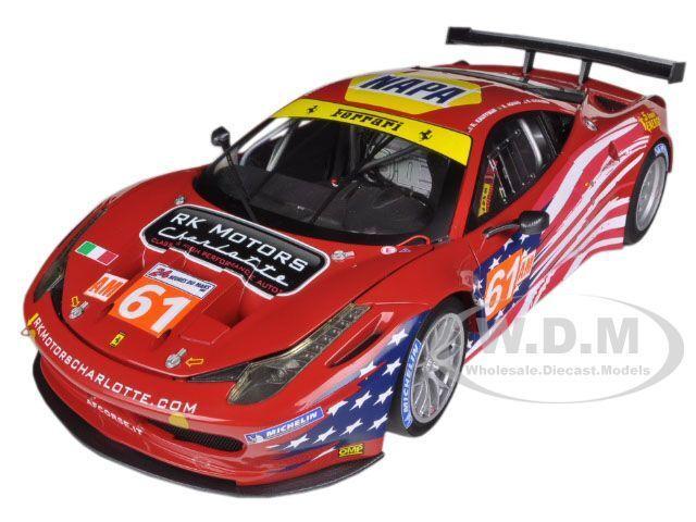 Elite Ferrari 458 Italia GT2  61 LM 2012 Action Figure Corse 1 18 Hotwheels BCT78