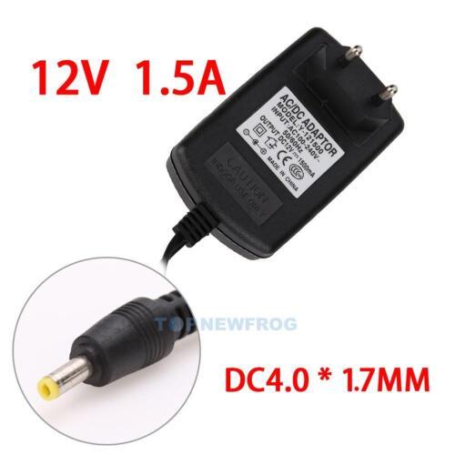EU-Stecker Netzteil Netzadapter AC110-240V auf//zu DC12V 1.5A Adapter 4.0 X 1.7mm
