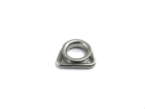 Lot of 12 Stainless Steel T316 D Ring Thimble