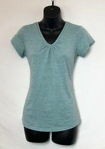 Columbia-Omni-Wick-Womens-Cap-Sleeve-Mint-Green-Micro-Stripe-Top-Logo-Sz-S-NWOT