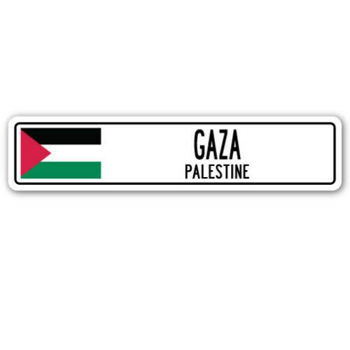 PALESTINE Aluminum Street Sign Palestinian flag city country road wall gif GAZA