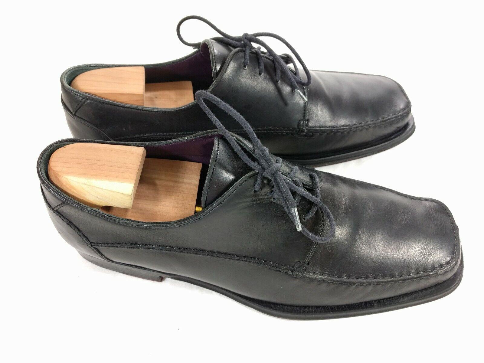 MENS BRUNO MAGLI NATE SIZE 9.5M BLACK Leather MOC Toe Oxfords shoes