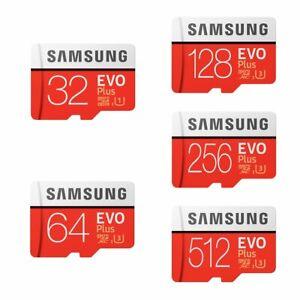Carte Mémoire Micro SD SDHC Class 10 Samsung Evo Plus 32 64 128 256 512 Go