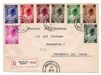 Belgium Registered Cover To Sweden 1937 Ebay