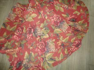 Avon Croscill Serena Sienna Green Purple Floral 1 Round Tablecloth 66 S Ebay