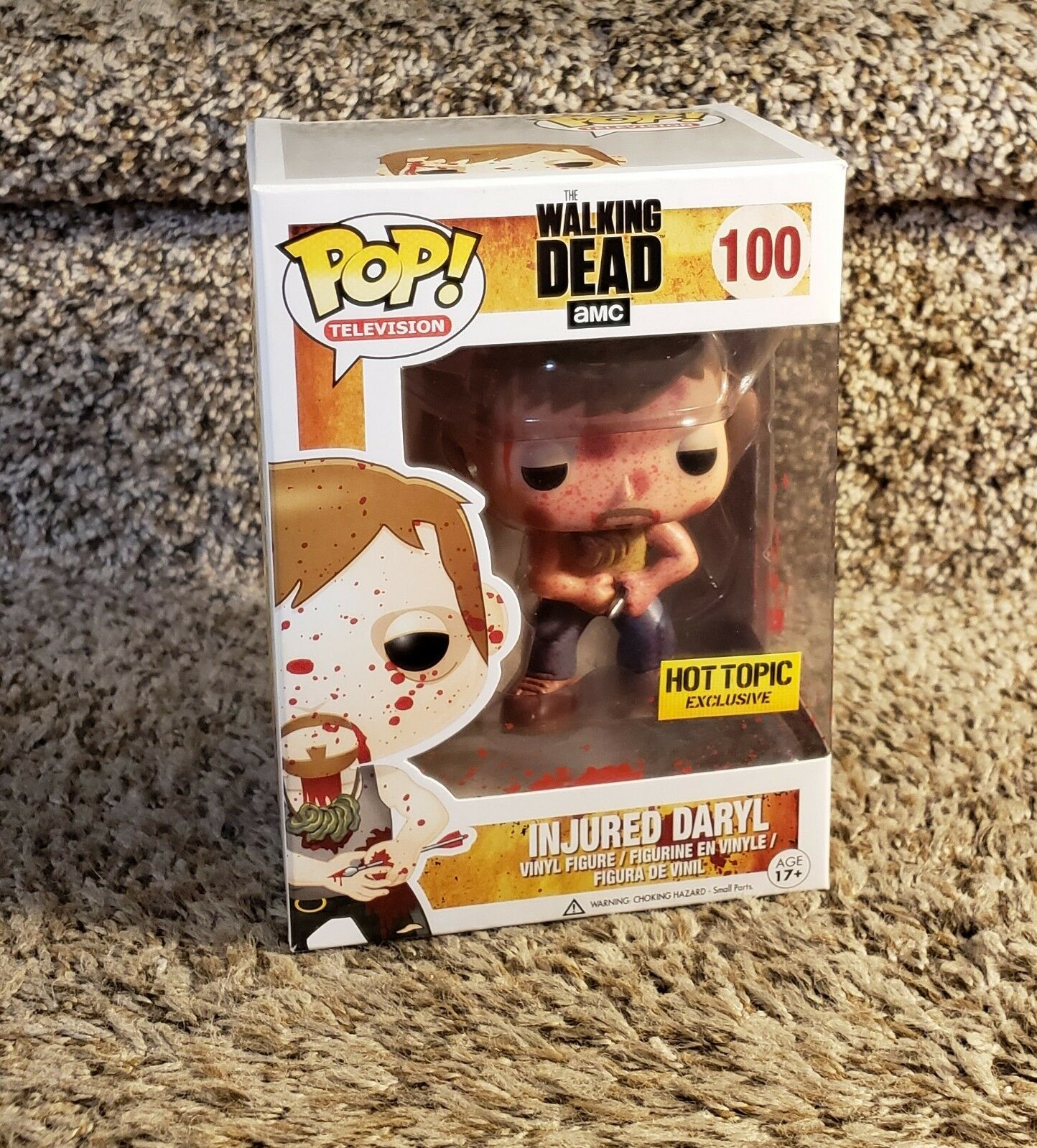 Walking Dead FUNKO Pop  INJUROT DARYL  100 Hot Topic Excl w/ Protector Near Mint