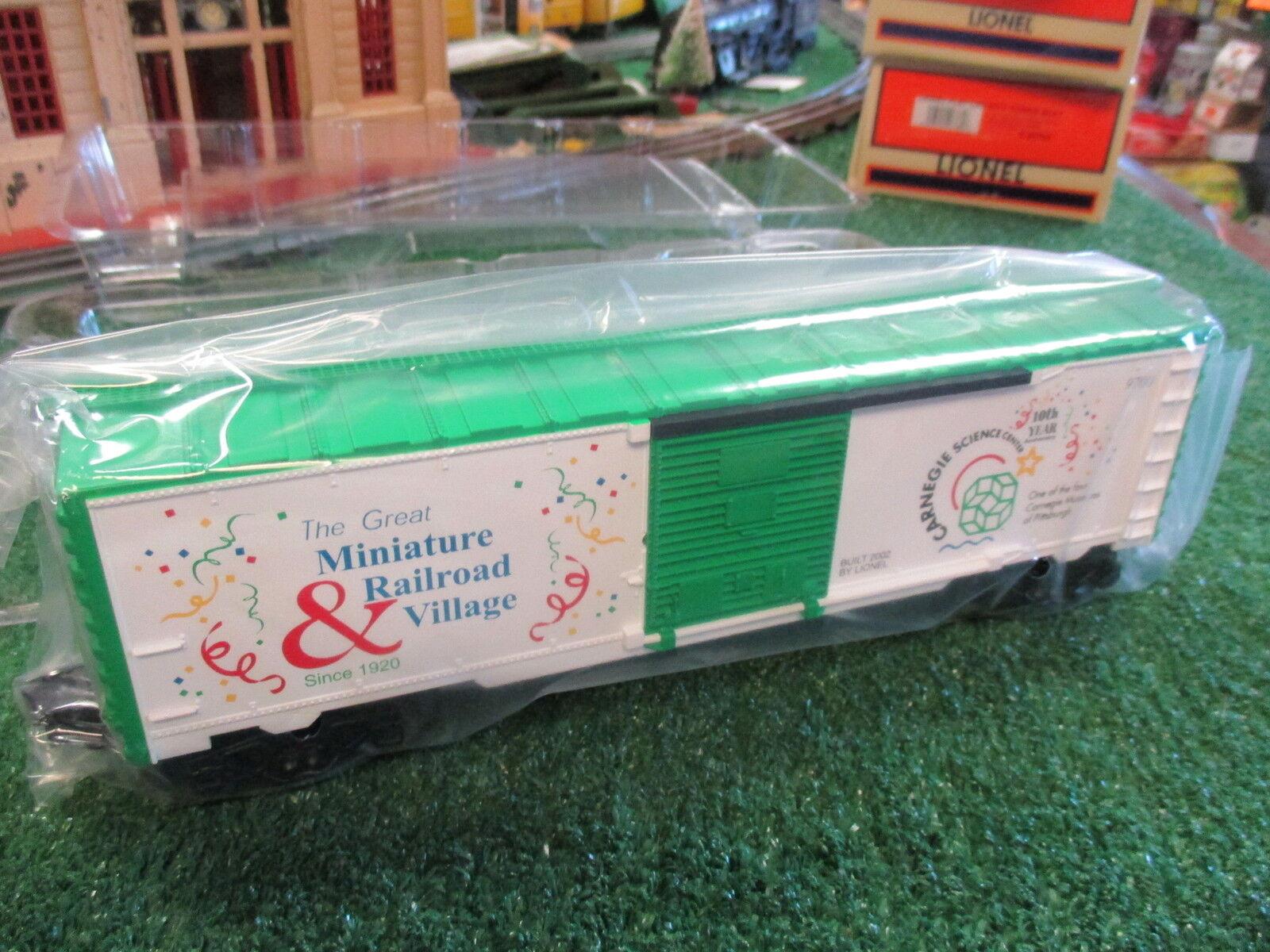 LIONEL 52277 CARNEGIE SCIENCE CENTER BOX CAR 2002 NIOB GREAT GRAPHICS DCST 2002