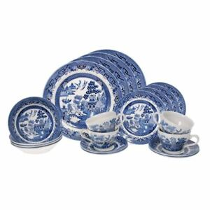 Blue Willow by Queens Churchill - 20pc Dinner Set (made in England)