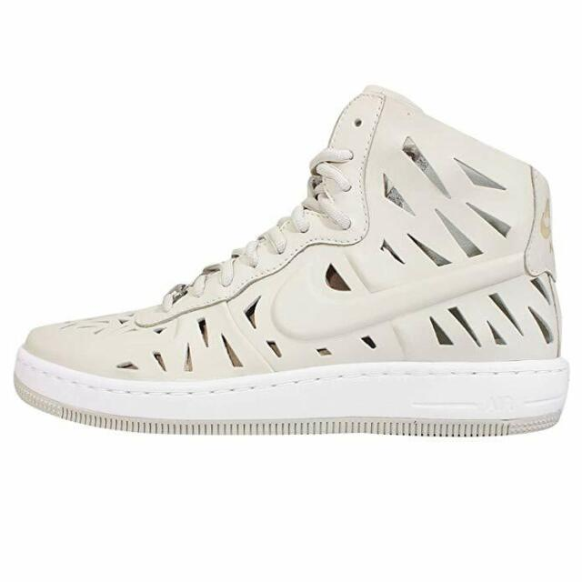 Nike Womens W Af1 Ultra Force Mid Joli QS Light Bone Leather