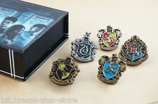 Harry Potter Magic School Badges 5 pcs One Set Metal Pin Gift Box Collections