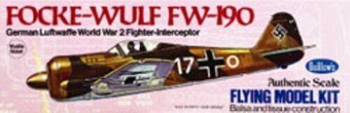 FW-190-Focke-Wulf-16-5-034-Guillows-502-Balsa-Wood-Model-Airplane-Kit