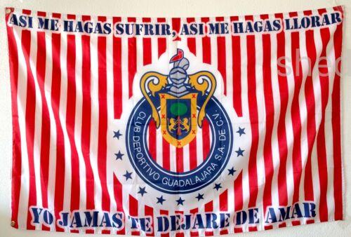 Chivas Guadalajara Flag Banner Bandera 3x5 Mexico Futbol Soccer La 12 Siempre Te
