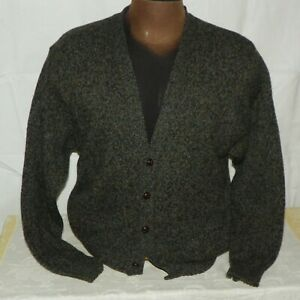 Details about Pendleton Gray Button Up Wool Cardigan Sweater Mens Size Medium