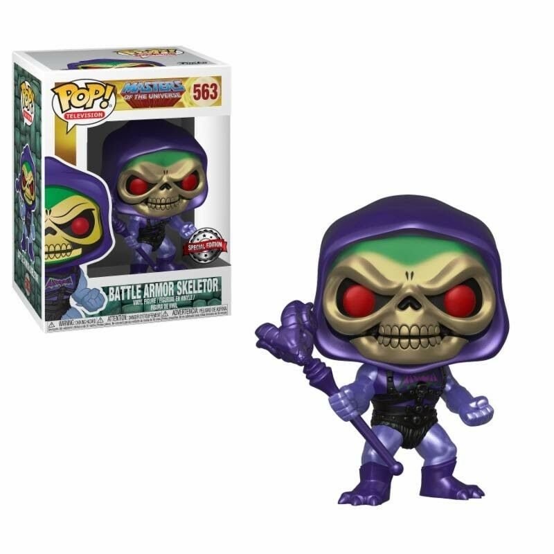 Funko POP   Vinyl Skeletor battle armor  METALLIC -  563 Special edition