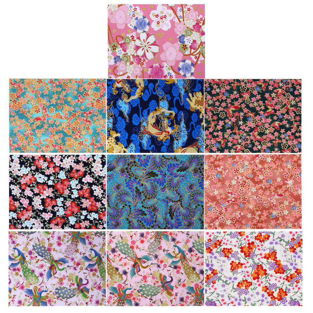 10 Sheets Chic Delicate Quilting Supplies Patch Fabric Bronzing Patch Cloth