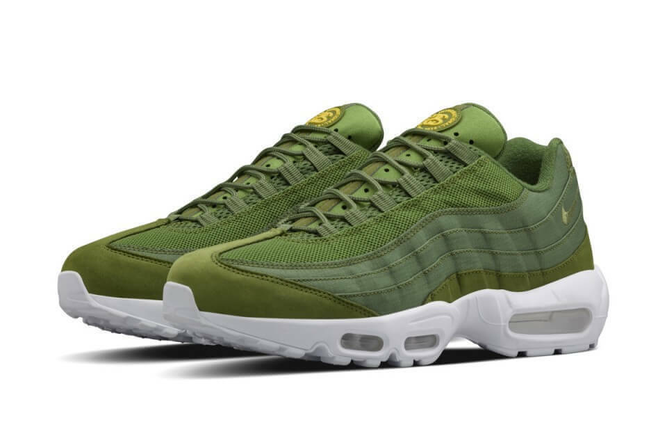 2015 STUSSY X NIKE AIR MAX 95 OLIVE GREEN ALL SIZES 6-12 NEW 7 8 9 10  11 12