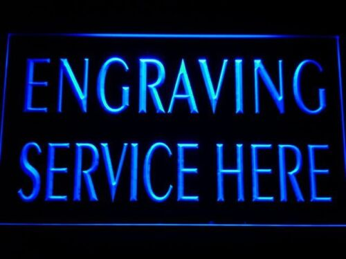 m078-b Engraving Service Here Shop Neon Light Sign