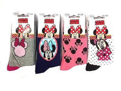 Di Carattere Dolce Lot De 6,12 Paires De Chaussettes Enfant Minnie Mouse Couleurs Assorties !!!