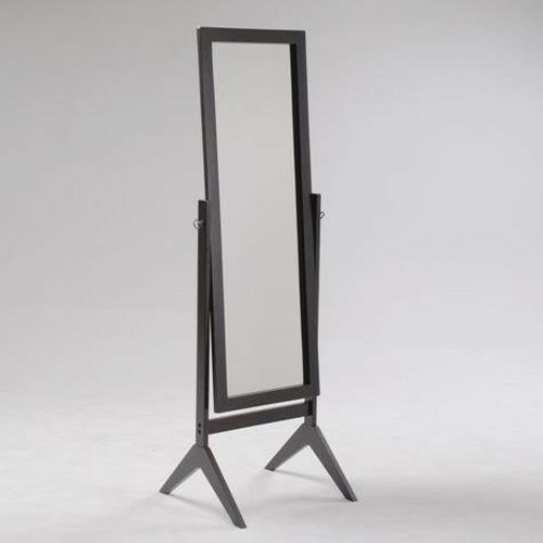 Crown Mark Cheval Standing Full Length Mirror in Espresso Finish ...